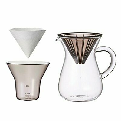 300 ml 2 Cups Carafe Coffee Set with 20 Filters by Kinto for 46531 fromJAPAN