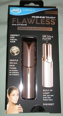 Genuine Finishing Touch Flawless Facial Hair Remover - BLUSH, ROSE GOLD  - New