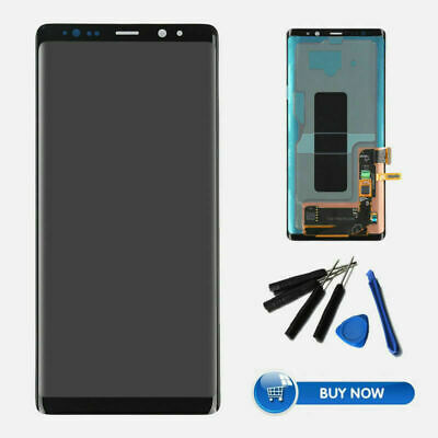 Noir OLED Pour Samsung Galaxy Note 8 LCD Écran Screen Touch Digitizer Assembly H