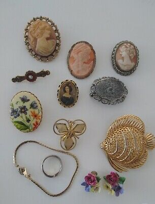 Selection of Cameos and Broaches
