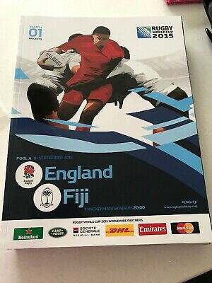 England v Fiji Official Programme 2015 Rugby World Cup  *Mint Condition*