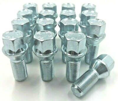16 X Alloy Wheel Bolts For Mini Bmw  M14 X 1.25 17Mm Silver  Nuts Lugs Studs 48
