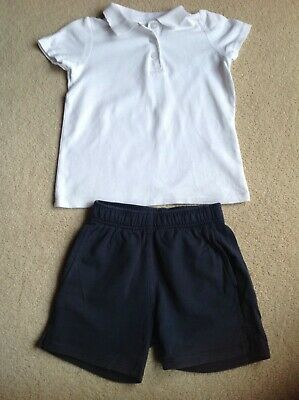 Girls School PE Shorts & T-Shirt Age 4-5 Years