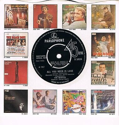 BEATLES * All You Need Is Love / Baby, You´re A Rich Man * UK Parlophone Com PS