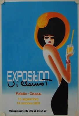 Affiche VILLEMOT 2001 Exposition Felletin - Creuse