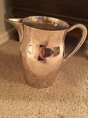 Silver Plated Water Pitcher By The Poole Co. 1950's Vintage