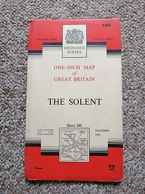 Ordnance Survey One-Inch Map, Sheet 180: The Solent - 1963 Revision
