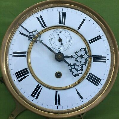 A Single Wieght Vienna Wall Clock Dial & Movement