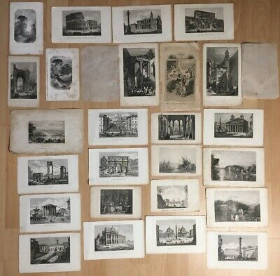 Large Collection Of Antique Engravings And Prints Mostly From Italy