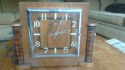 L@@K Vintage Mantle Clock - Smith Sectric - Art Deco Style - Working