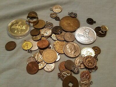 Junk Drawer Lot Coins coca Cola Tokens Metals Ring coke advertising