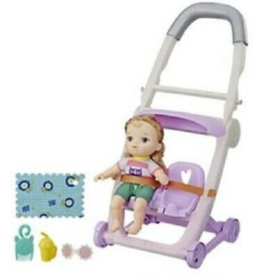 Baby Alive Littles Push N Kick Stroller and Blonde Doll