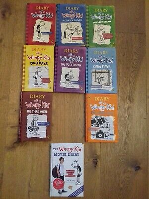 Diary of a Wimpy Kid 2007-2014 (2013 missing) + The Wimpy Kid Movie Diary