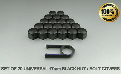 20 Car Bolts Alloy Wheel Nuts Covers 17mm Black For Mercedes Vito MK2 W639