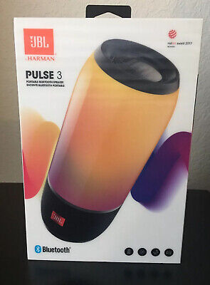 NIB ~ JBL by HARMAN  Pulse 3 Portable Bluetooth Speaker ~ JBLPULSE3BLKAM