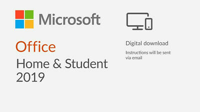 Microsoft Office 2019 Home and Student License [Digital]