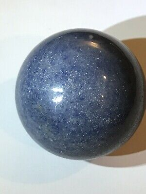 40mm Natural Blue Quartzite Crystal Round Sphere Orb Polished Healing Stone