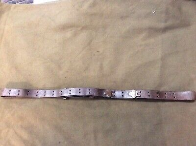 WW2 M1907 Rifle Sling For M1 Garand And Others,  All hardware is brass.