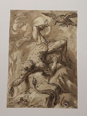 EXQUIS DESSIN ANCIEN 18eme SIECLE, OLD MASTER DRAWING, MUSEUM QUALITY