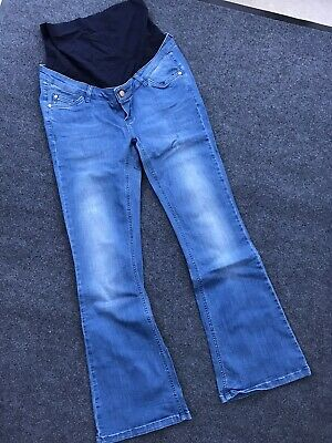 Blooming Marvellous Mothercare Maternity Over The Bump Bootcut Jeans Size 14R
