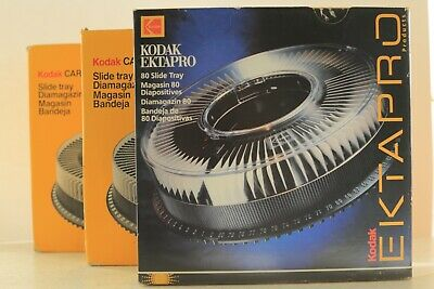 Kodak Carousel S-AV200 Slide Trays (three). Boxed. Very good condition.