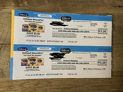 ENFAMIL Infant Baby Formula Coupons - $10 Value - Exp 12/31/2019