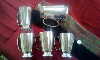 John Turton Silver Plate Victorian Jug With EPNS Mugs