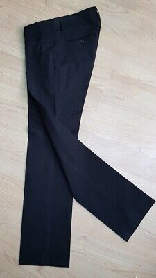 SLACKS & C0 BLACK NYC STRETCH WOOL Maternity TAILORED TROUSERS size 29 RRP£119