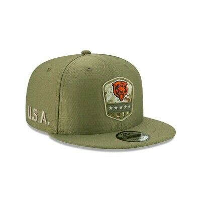 2019 Chicago Bears New Era 9FIFTY Salute To Service Sideline Snapback Hat Cap