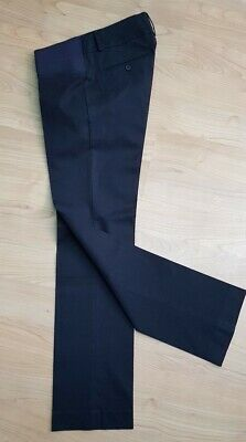 SLACKS & C0 NAVY NYC STRETCH WOOL Maternity TAILORED TROUSERS size 29 RRP£119
