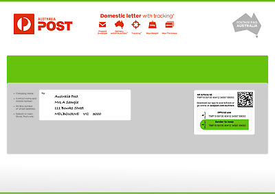 Australian Post Domestic Letter With Tracking Large Prepaid Envelope 10 Pack