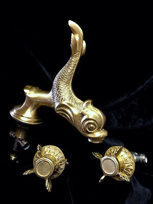 SHERLE WAGNER  24 Carat Gold Plated Sink Faucet & Handles ca.1980s