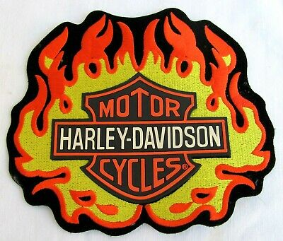 Harley-Davidson..large..shield Flame..patch..new