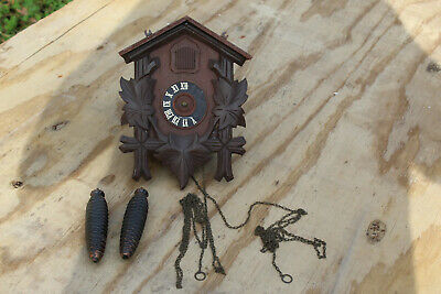Vintage German Cuckoo Clock for Parts or Restoration-Henry Coehler