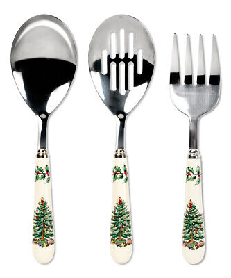 SPODE Holiday Christmas Tree Set of 3 Pieces 3-Piece Cutlery Fork Spoons New Box