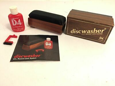 DiscWasher Brand Vinyl Record Care D4 System Made In USA