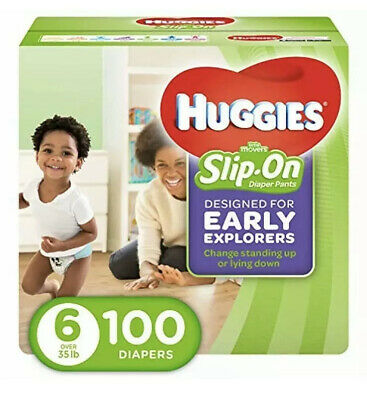 HUGGIES Little Movers Slip-On Diaper Pants, Size 6, 100 Count Pañales