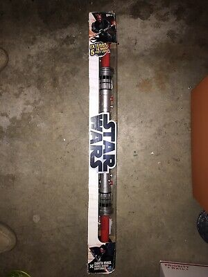 """Star Wars Darth Maul Double Sided Lightsaber Toy 63"""" Brand New Damaged Box"""