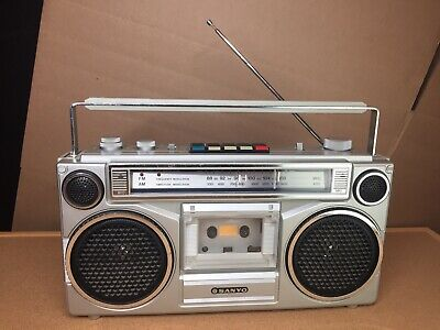 Vintage Sanyo Cassette Radio Boombox M9902-2 AM/FM - WORKS GREAT 📻