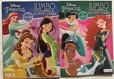 2 Disney Princess Jumbo Coloring and Activity Books
