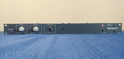 Symetrix A-220 stereo amplifier amp from radio station pro audio