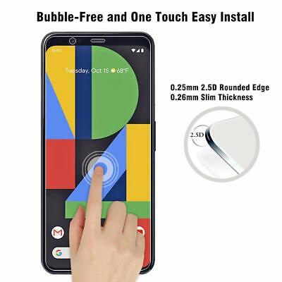 For Google Pixel 3 3A 3A XL 4 4XL Tempered Glass Screen Protector Cover