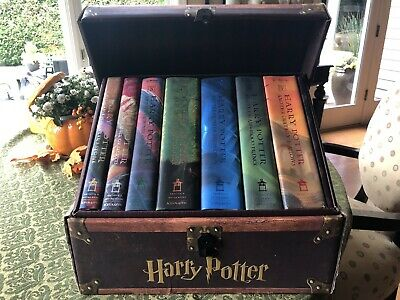 New Harry Potter Hardcover Complete Box Set in Trunk: Volume 1-7 BRAND NEW MINT!