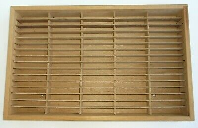 Napa Valley Box Company 80 Cassette Tape Holder Wood Vintage Music Storage Tapes