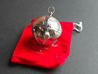 WALLACE SILVERSMITHS 1996 Sleigh Bell Ornament// Angels of Christmas