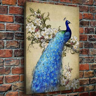 """12""""x16"""" Beauty Peacock HD Canvas prints Paint Home Decor Picture Wall art Poster"""