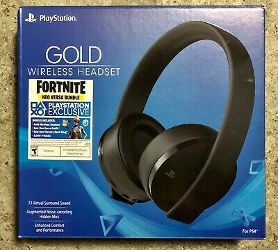 Sony - Gold Wireless Headset Fortnite Neo Versa Bundle for PS4 - BRAND NEW!