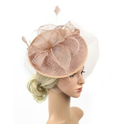 Fascinator Hat Lady's Day Feather Ascot Race Hair Clip Wedding Party Accessories