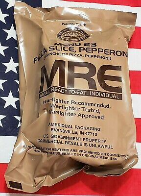 2022 PIZZA Pepperoni Slice MRE #23 US Army Military complete meal ready to Eat