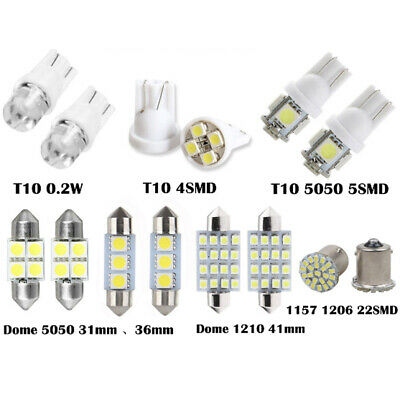 14x LED Interior Package Kit For T10 36mm Map Dome License Plate Lights Bulbs